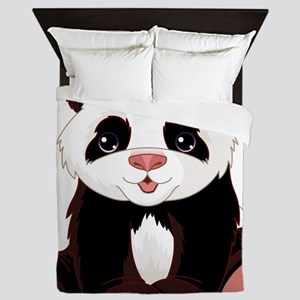 Cute Baby Panda Queen Duvet