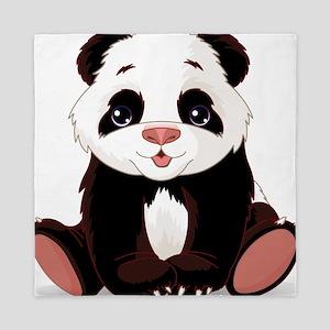 Cute Baby Panda Queen Duvet