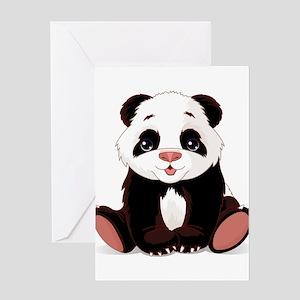 Cute Baby Panda Greeting Card