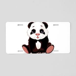 Cute Baby Panda Aluminum License Plate