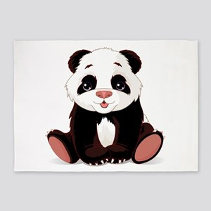 Cute Baby Panda 5'x7'Area Rug