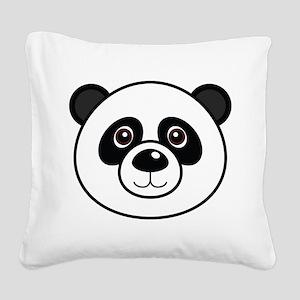 Panda Face Square Canvas Pillow