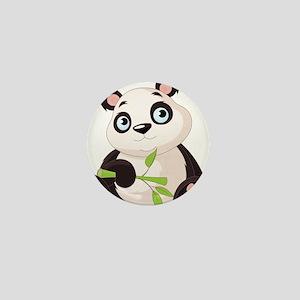 Baby Panda with Bamboo Mini Button