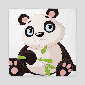Baby Panda with Bamboo Queen Duvet