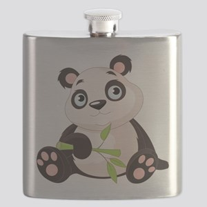 Baby Panda with Bamboo Flask