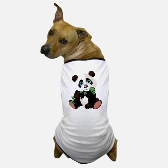 Panda Eating Bamboo Dog T-Shirt