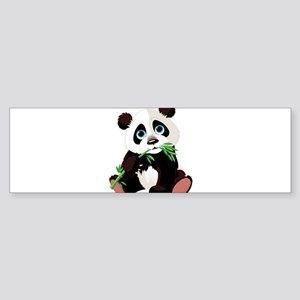 Panda Eating Bamboo Bumper Sticker
