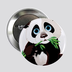 "Panda Eating Bamboo 2.25"" Button"