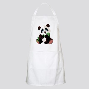 Panda Eating Bamboo Apron