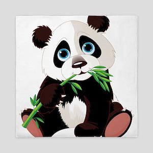 Panda Eating Bamboo Queen Duvet
