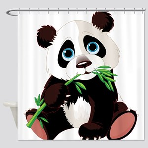 Panda Eating Bamboo Shower Curtain