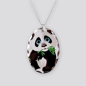 Panda Eating Bamboo Necklace