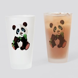 Panda Eating Bamboo Drinking Glass