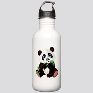 Panda Eating Bamboo Water Bottle