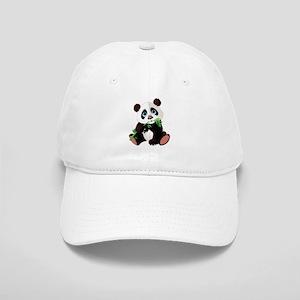 Panda Eating Bamboo Baseball Cap