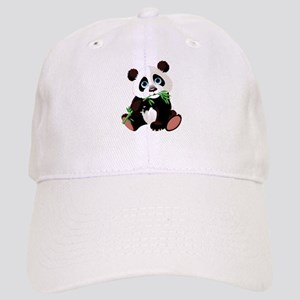 5e2959158ca Panda Eating Bamboo Baseball Cap