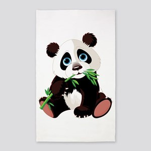 Panda Eating Bamboo 3'x5' Area Rug