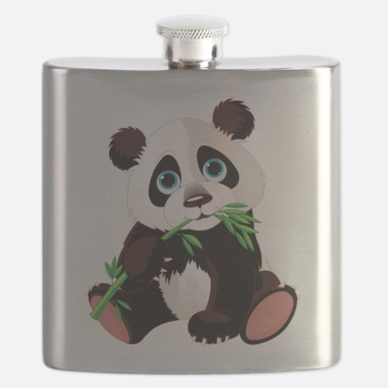 Panda Eating Bamboo Flask