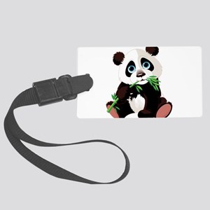 Panda Eating Bamboo Luggage Tag