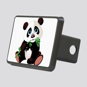 Panda Eating Bamboo Hitch Cover