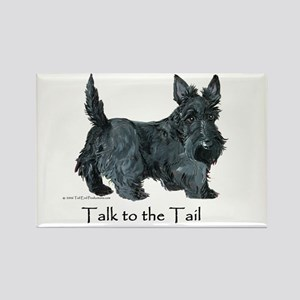Scottish Terrier Attitude Rectangle Magnet