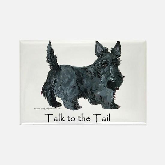 Scottish Terrier Attitude Rectangle Magnet