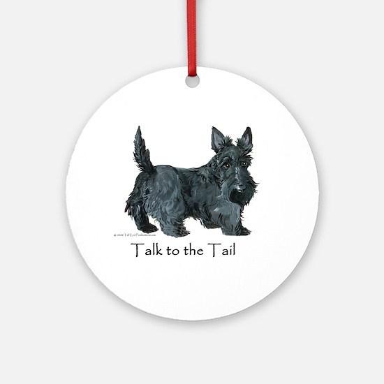 Scottish Terrier Attitude Ornament (Round)
