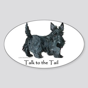 Scottish Terrier Attitude Sticker (Oval)