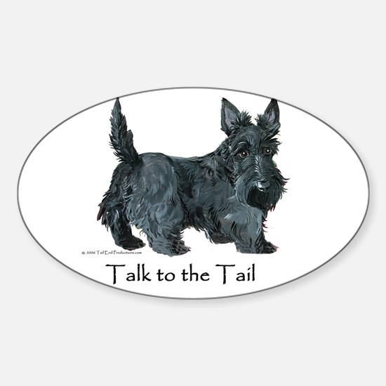 Scottish Terrier Attitude Sticker (Oval)
