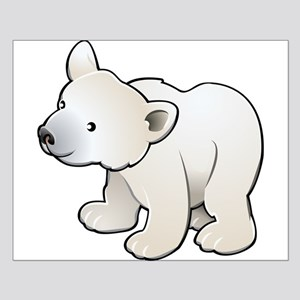 Gray Baby Polar Bear Posters