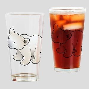 Gray Baby Polar Bear Drinking Glass