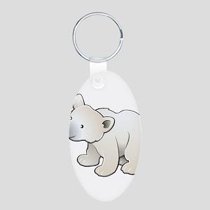 Gray Baby Polar Bear Keychains