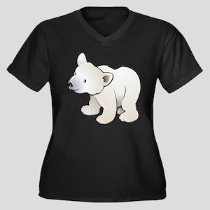 Gray Baby Polar Bear Plus Size T-Shirt