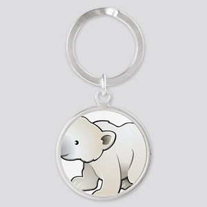 Gray Baby Polar Bear Keychains