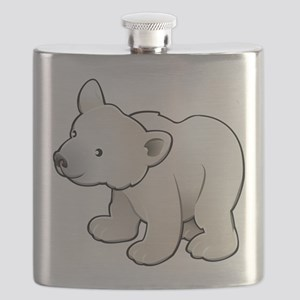 Gray Baby Polar Bear Flask