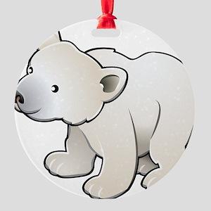Gray Baby Polar Bear Ornament