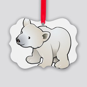 Gray Baby Polar Bear Ornament