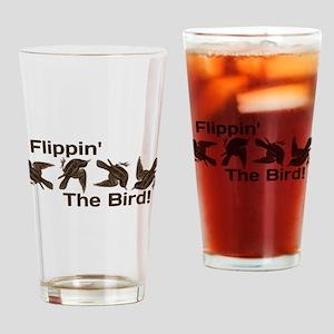 Flippin' The Bird Drinking Glass