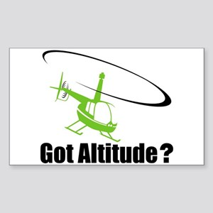 Got Altitude? White Rectangle Sticker