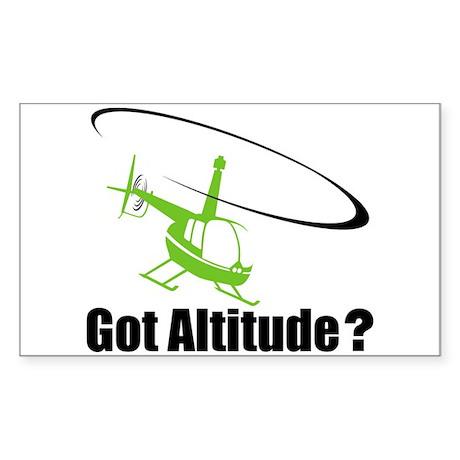 Got Altitude? White Rectangle Sticker