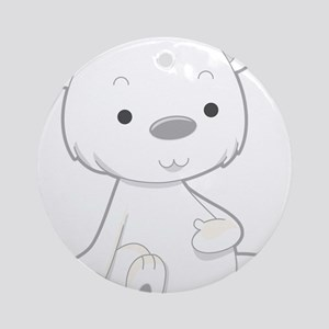 Baby White Polar Bear Ornament (Round)