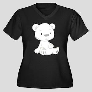 Baby White Polar Bear Plus Size T-Shirt