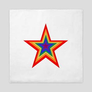 Rainbow Star Queen Duvet
