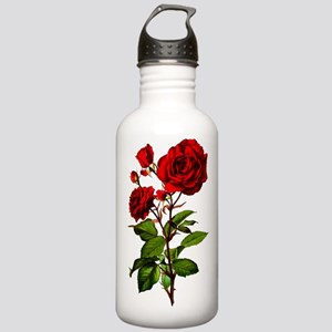 Vintage Red Rose Stainless Water Bottle 1.0L