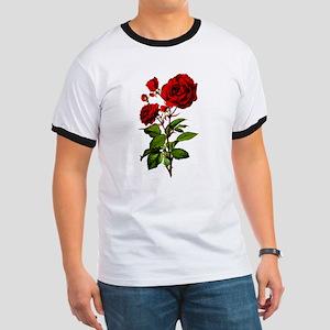 Vintage Red Rose Ringer T
