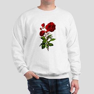 Vintage Red Rose Sweatshirt