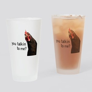 Funny Attitude Chicken Drinking Glass