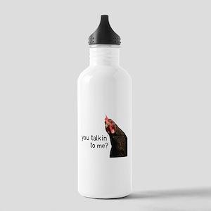 Funny Attitude Chicken Water Bottle