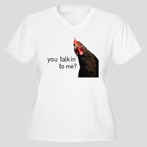 Funny Attitude Chicken Plus Size T-Shirt