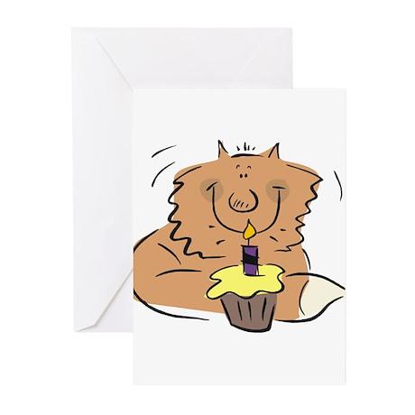 BIRTHDAY KITTY [1] Greeting Cards (Pk of 10)